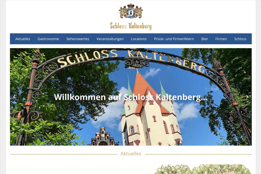 Website Schloss Kaltenberg